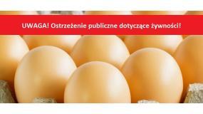 GIS wydał ostrzeżenie - Pałeczki Salmonella Enteritidis na powierzchni skorupek jaj.