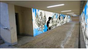Kolejny historyczny mural w Legionowie