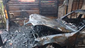 Nocny pożar w Dąbrowie Chotomowskiej